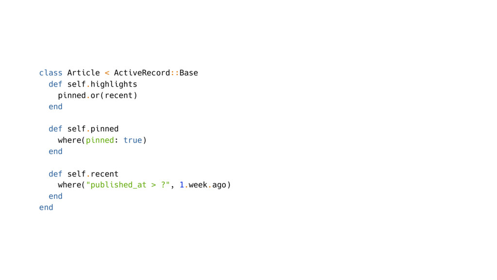 class Article < ActiveRecord::Base def self.hig...