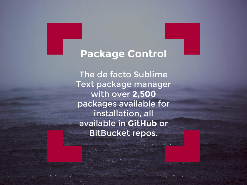 Package Control The de facto Sublime Text packa...