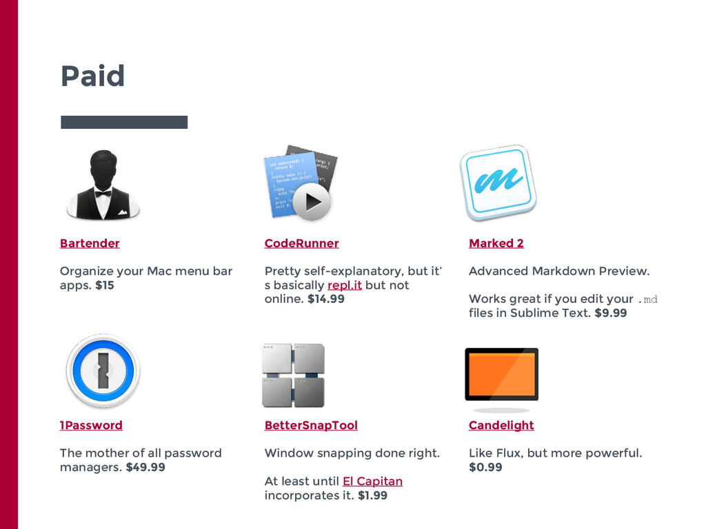 Paid Bartender Organize your Mac menu bar apps....