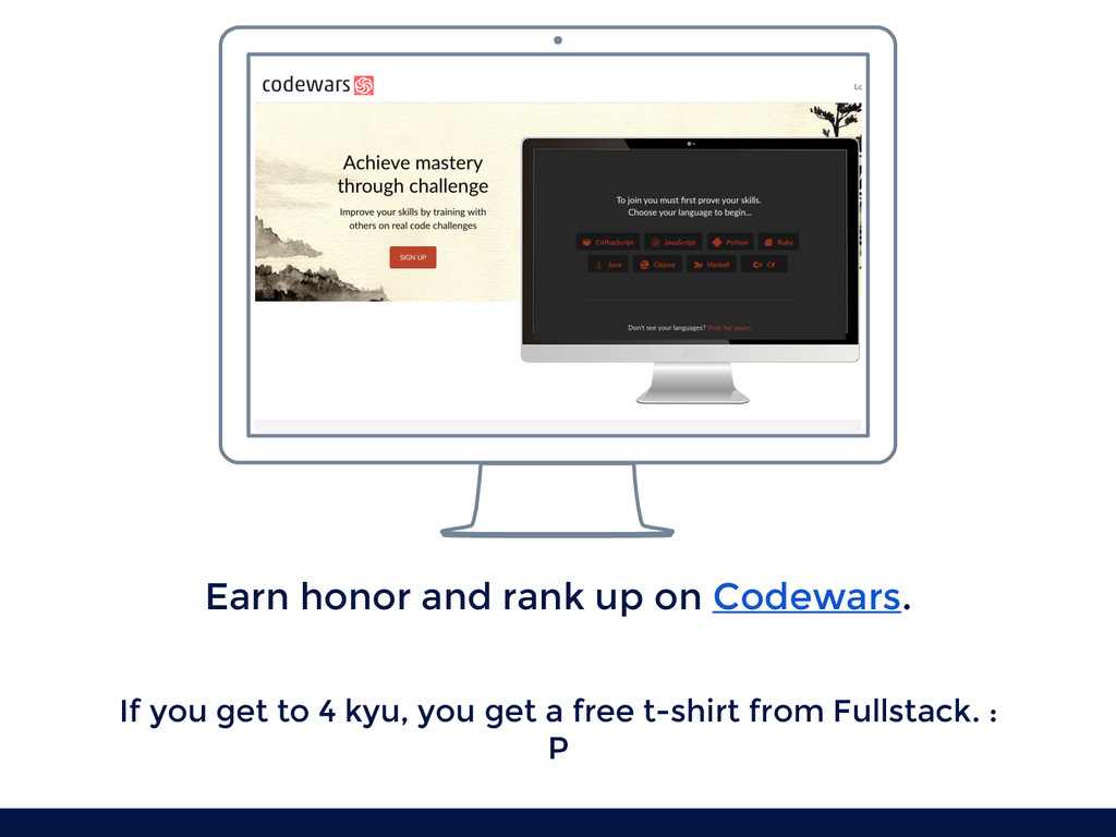 Earn honor and rank up on Codewars. If you get ...