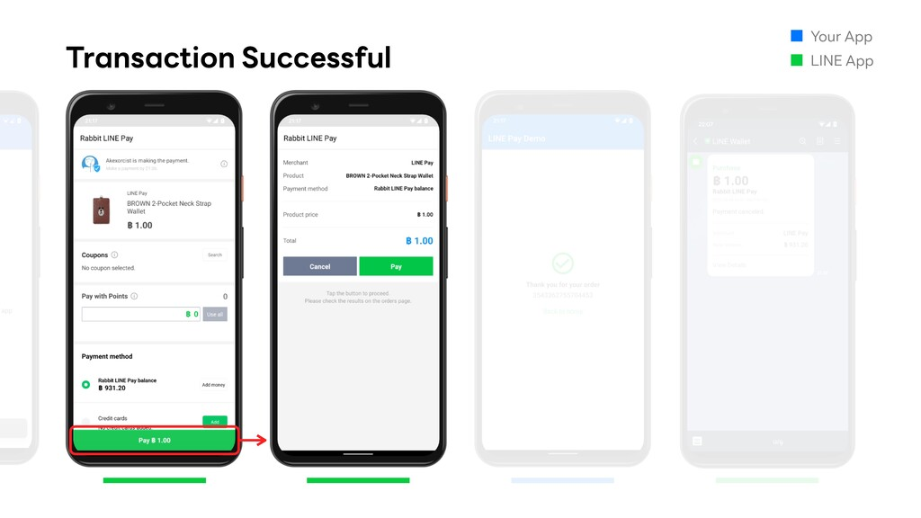 Transaction Successful Your App LINE App
