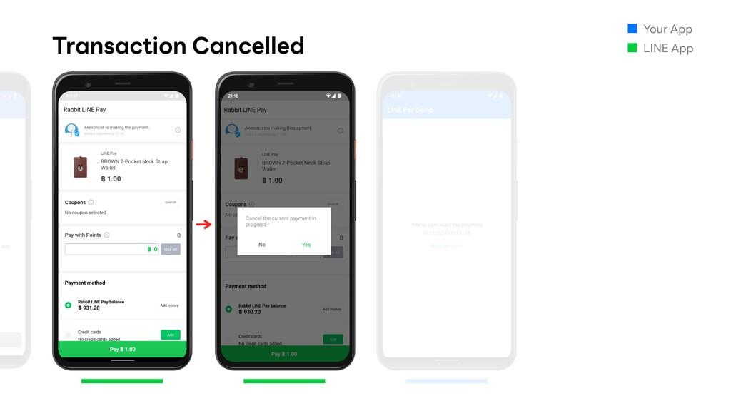 Transaction Cancelled Your App LINE App