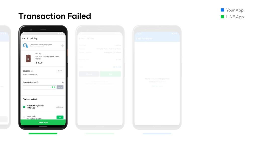 Transaction Failed Your App LINE App