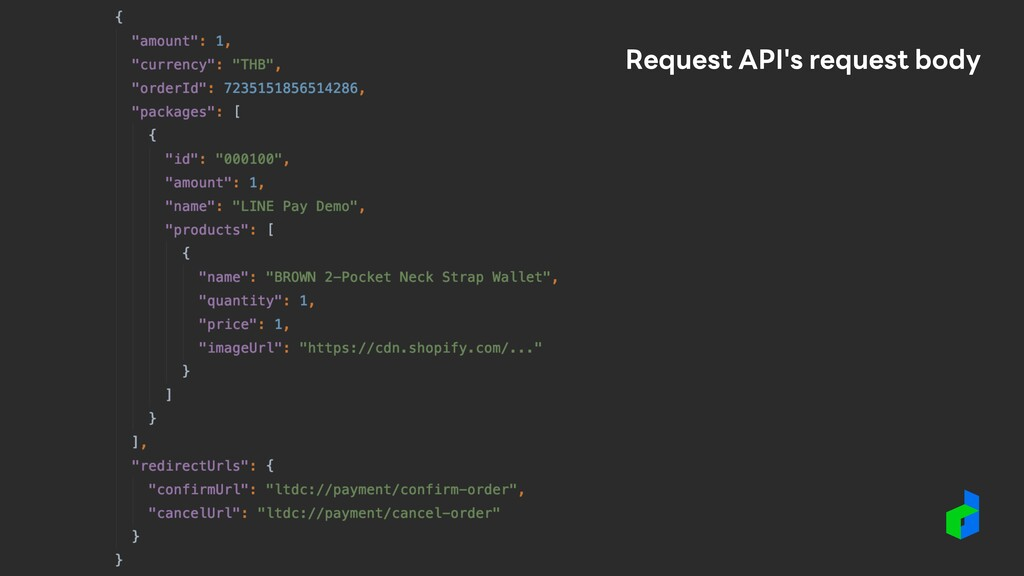 Request API's request body