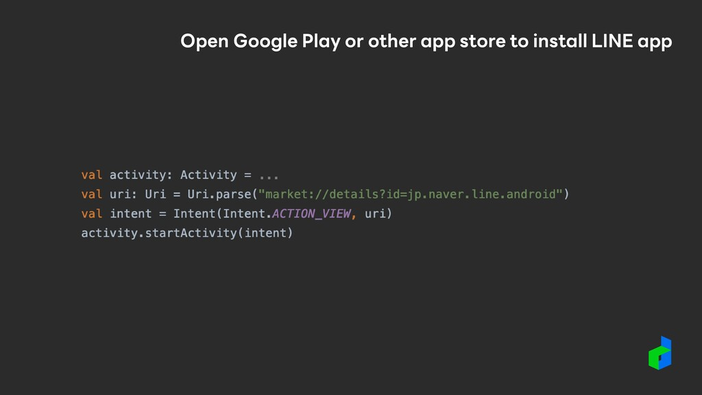 Open Google Play or other app store to install ...