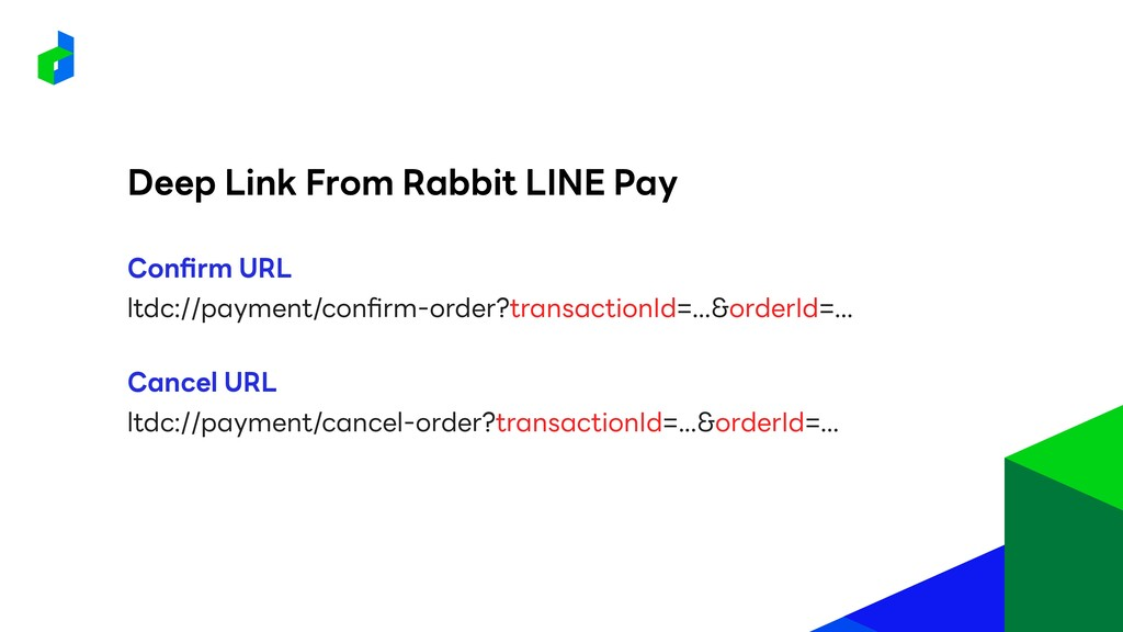 Deep Link From Rabbit LINE Pay ltdc://payment/c...