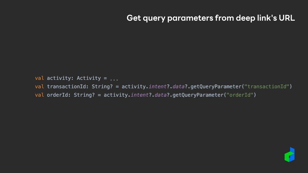 Get query parameters from deep link's URL