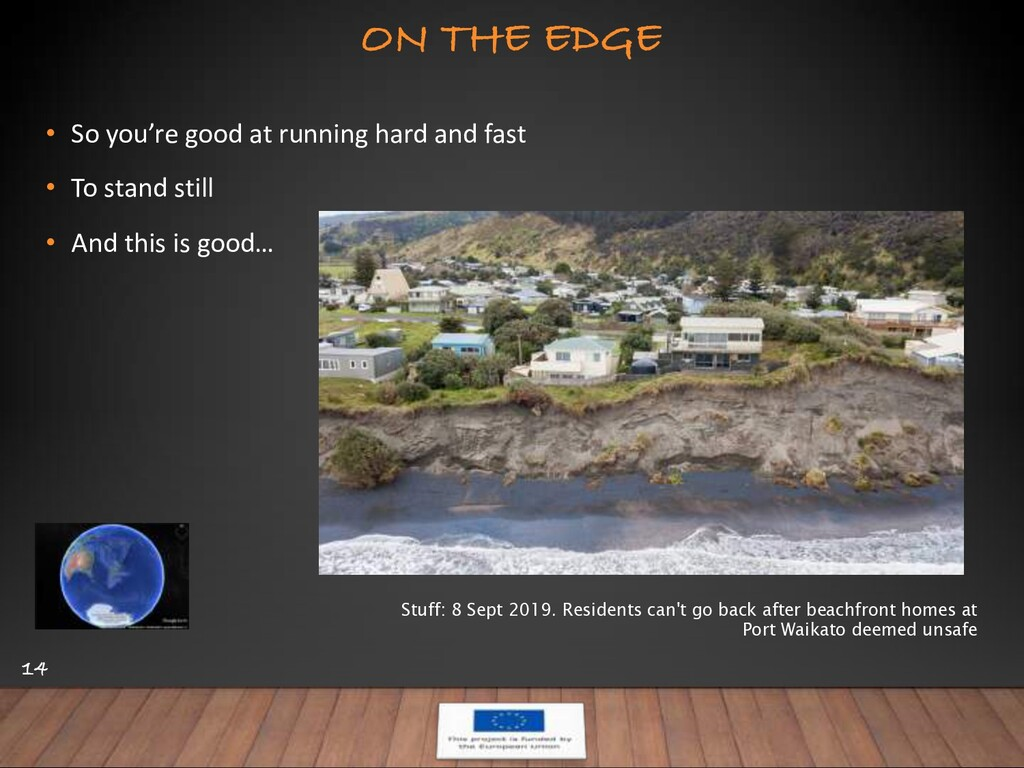 ON THE EDGE 14 • So you're good at running hard...