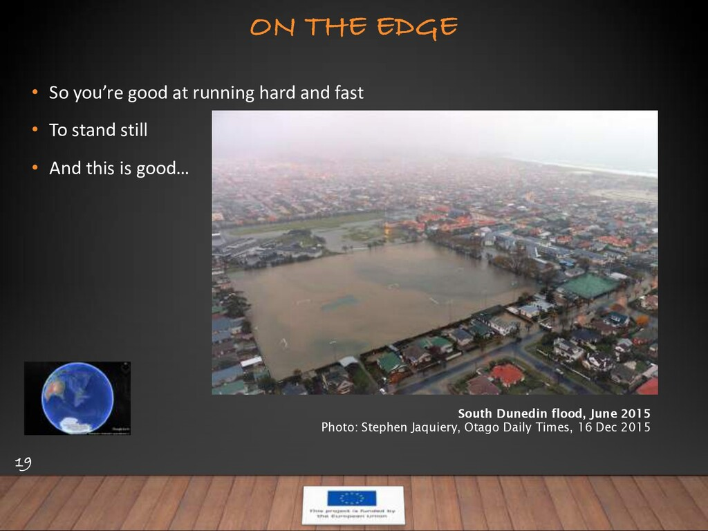 ON THE EDGE 19 • So you're good at running hard...