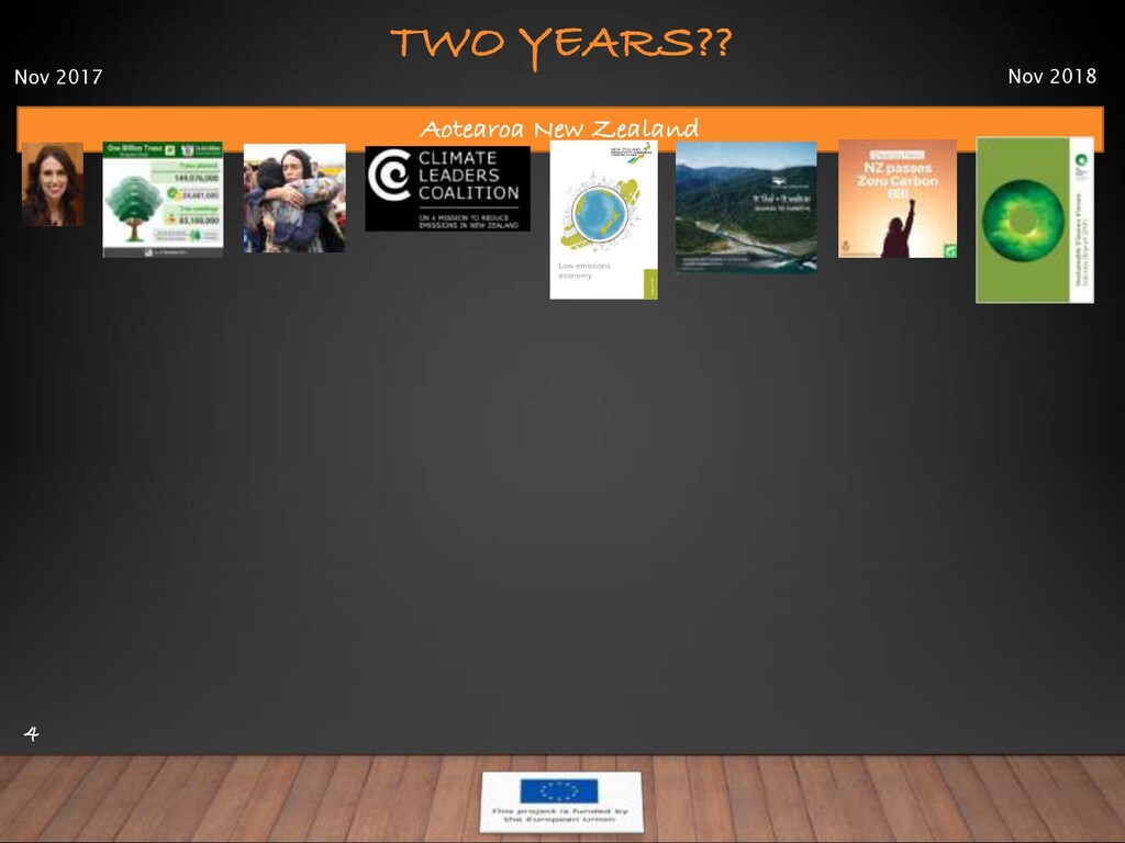 TWO YEARS?? 4 Aotearoa New Zealand Low-emission...