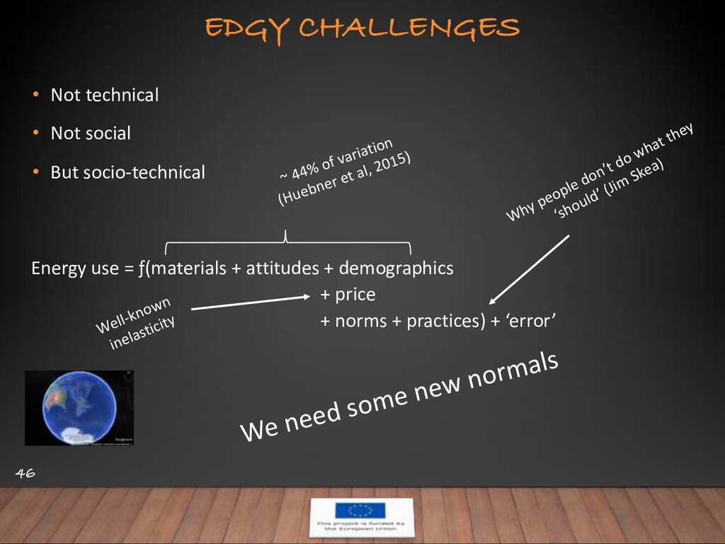 EDGY CHALLENGES 46 • Not technical • Not social...