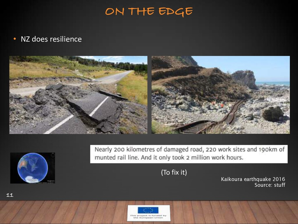 ON THE EDGE 11 • NZ does resilience Kaikoura ea...