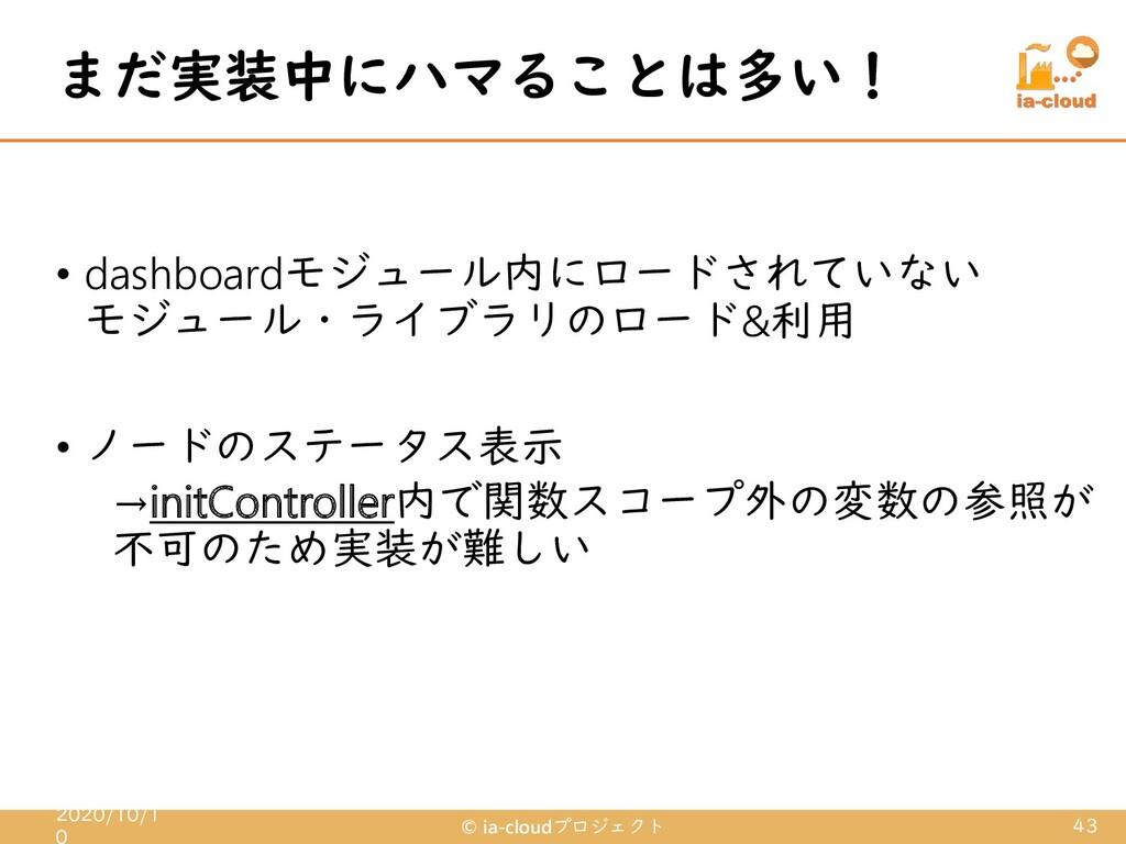 • dashboardモジュール内にロードされていない モジュール・ライブラリのロード&利用 ...