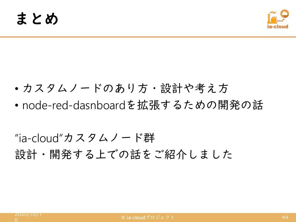 • カスタムノードのあり方・設計や考え方 • node-red-dasnboardを拡張するた...