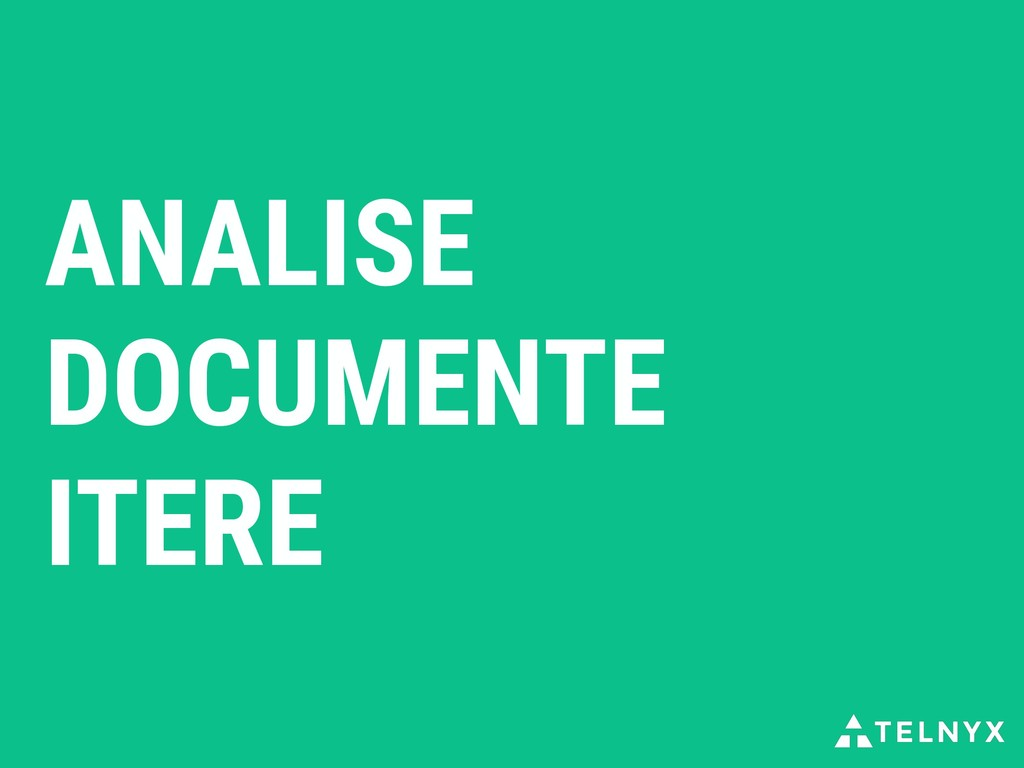 ANALISE DOCUMENTE ITERE