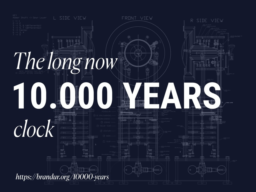 10.000 YEARS The long now clock https://brandur...