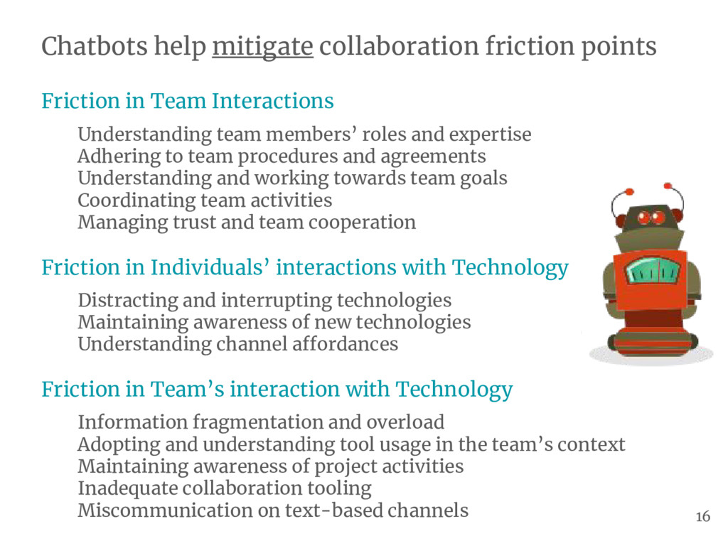 Chatbots help mitigate collaboration friction p...