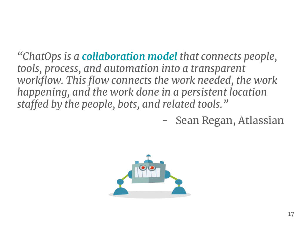 """ChatOps is a collaboration model that connects..."