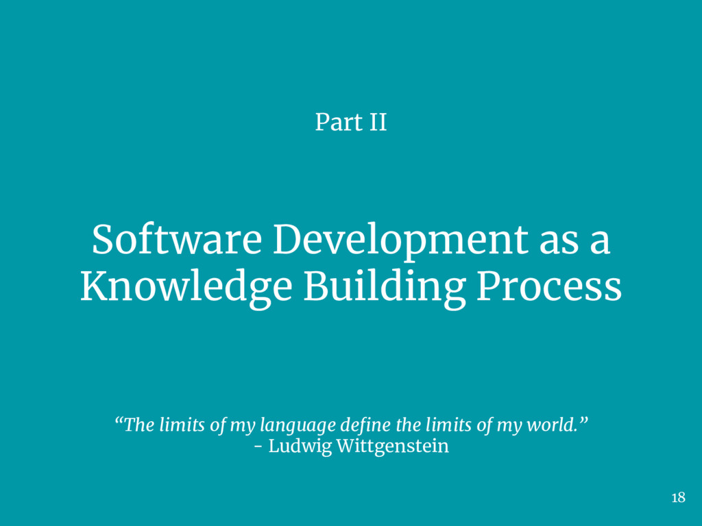 Software Development as a Knowledge Building Pr...