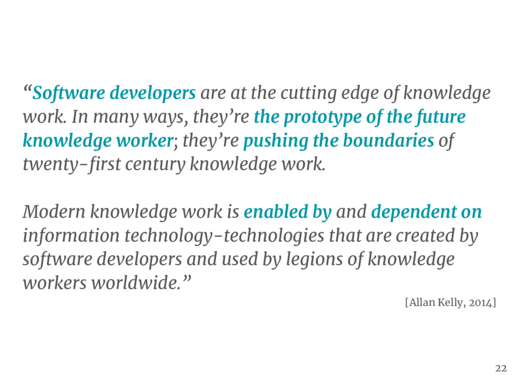 """Software developers are at the cutting edge of..."