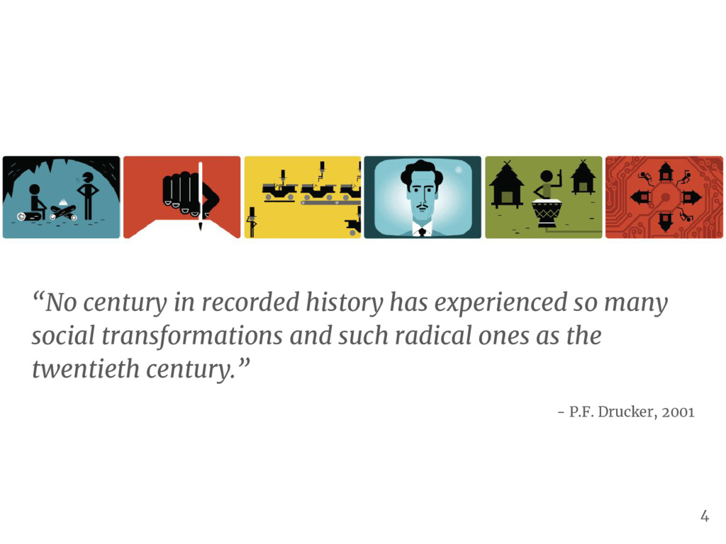 """No century in recorded history has experienced..."