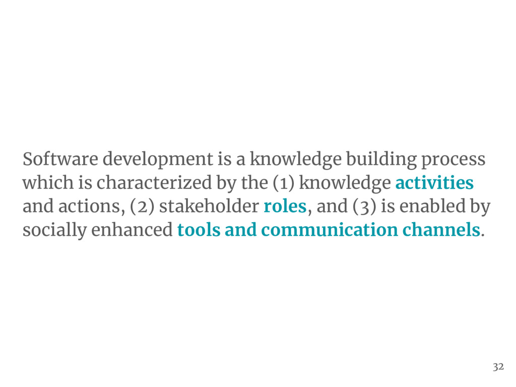 Software development is a knowledge building pr...