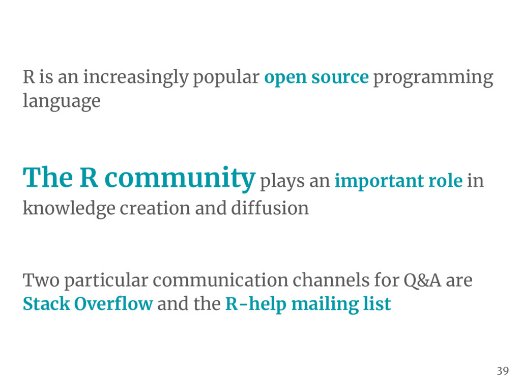 R is an increasingly popular open source progra...