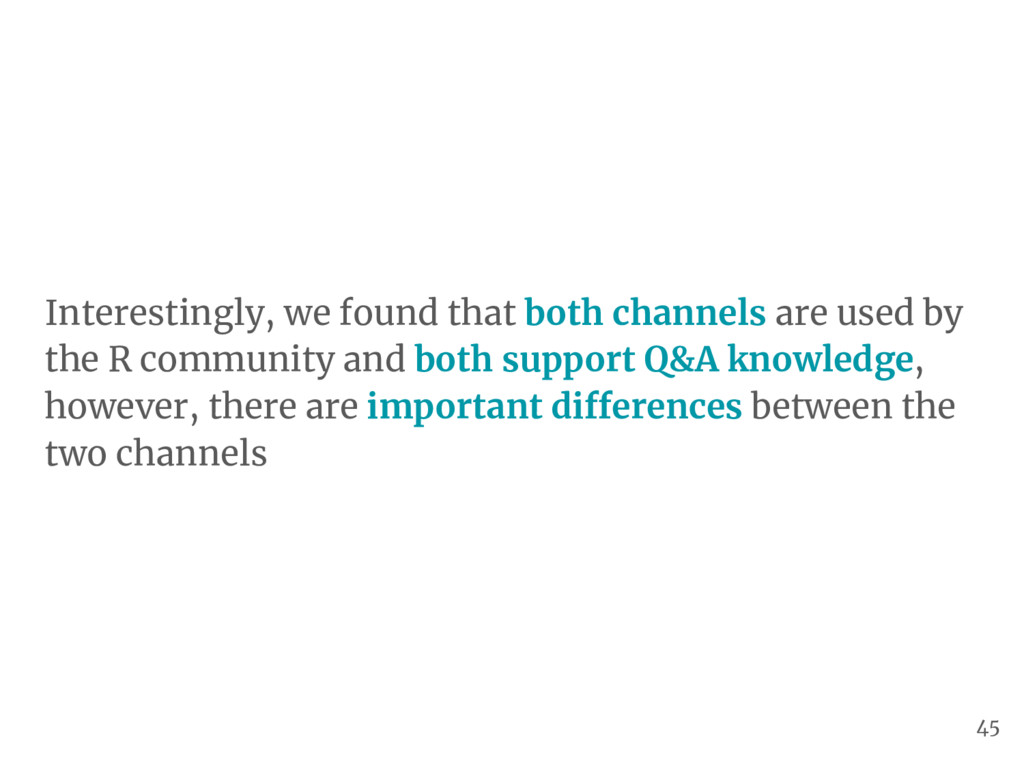 Interestingly, we found that both channels are ...