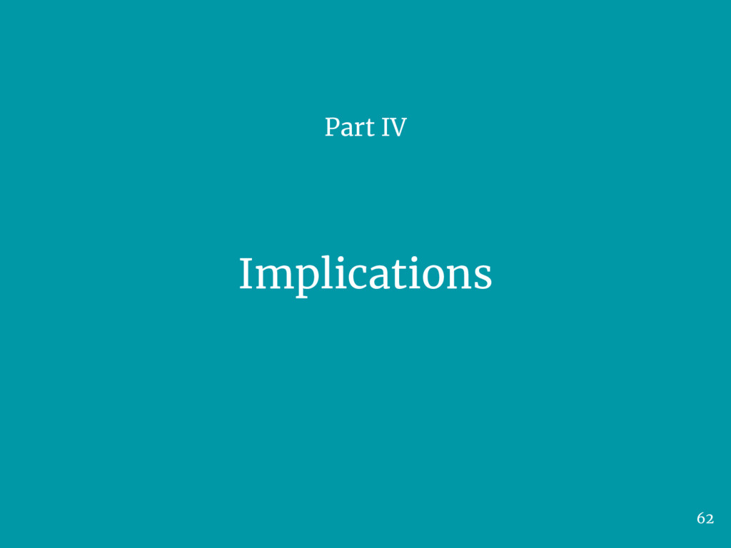 Implications Part IV 62