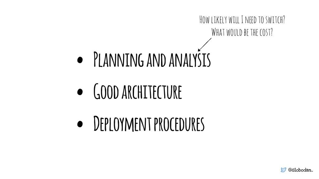 @slobodan_ • Planning and analysis • Good archi...