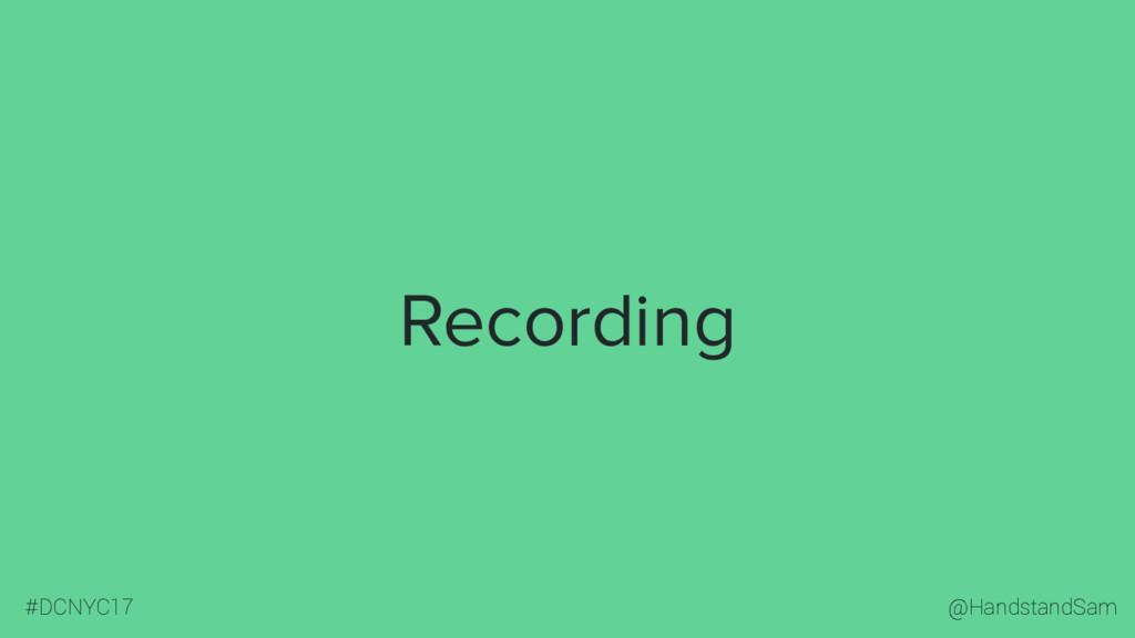 @HandstandSam #DCNYC17 Recording