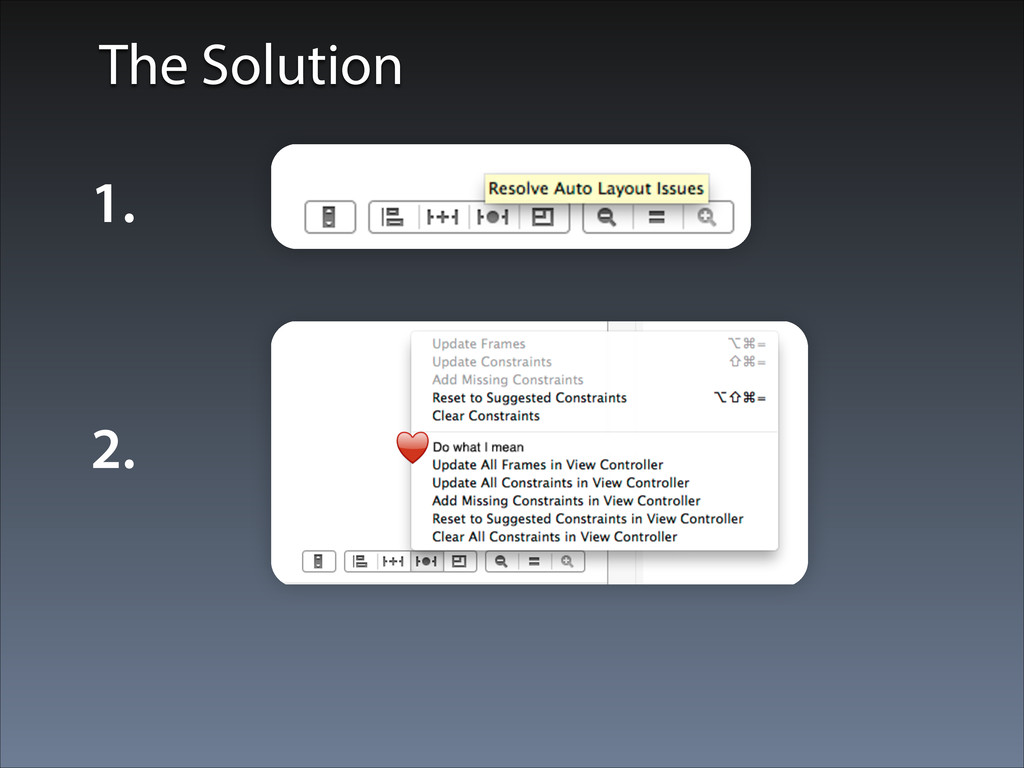 The Solution 1. 2. ♥