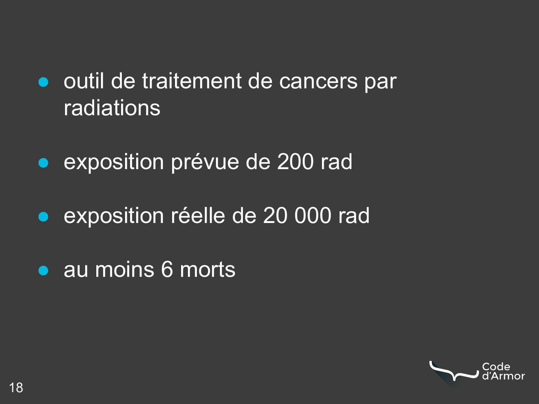 18 ● outil de traitement de cancers par radiati...