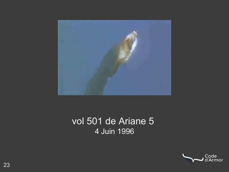 23 vol 501 de Ariane 5 4 Juin 1996
