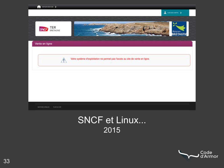 33 SNCF et Linux... 2015