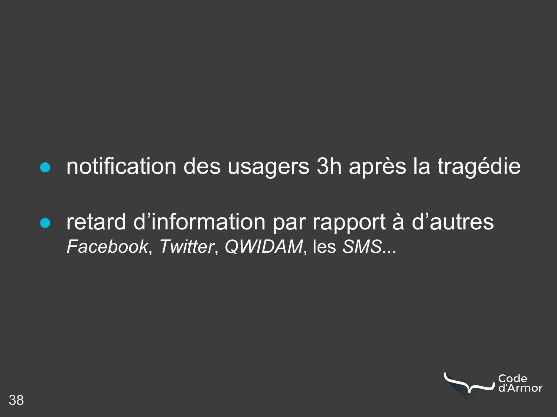 38 ● notification des usagers 3h après la tragé...