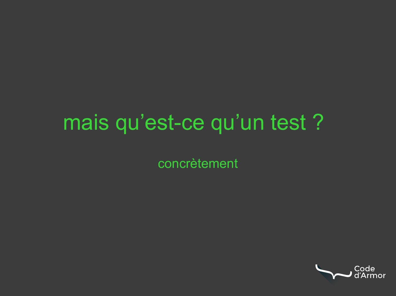 concrètement mais qu'est-ce qu'un test ?