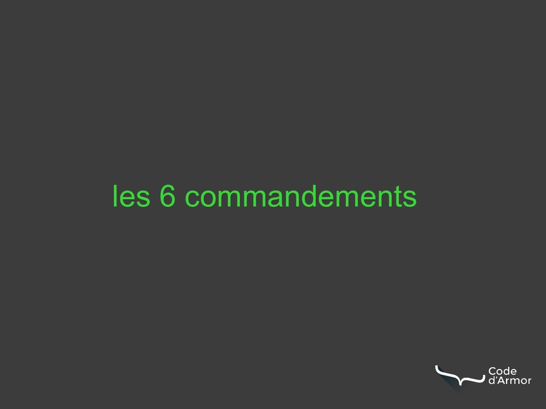 les 6 commandements