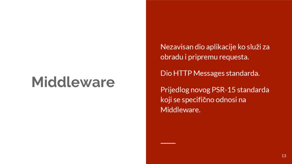 Middleware Nezavisan dio aplikacije ko služi za...