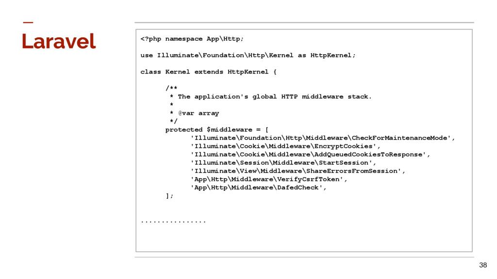 Laravel Laravel <?php namespace App\Http; use I...