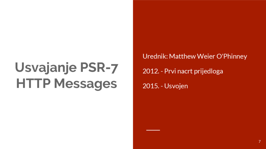 Usvajanje PSR-7 HTTP Messages Urednik: Matthew ...