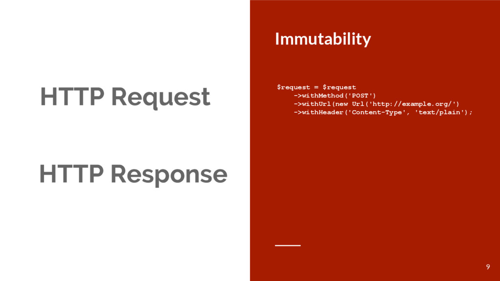 HTTP Request Immutability HTTP Response $reques...