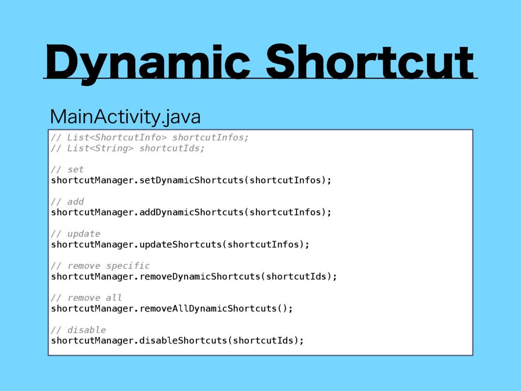 %ZOBNJD4IPSUDVU // List<ShortcutInfo> shortcut...