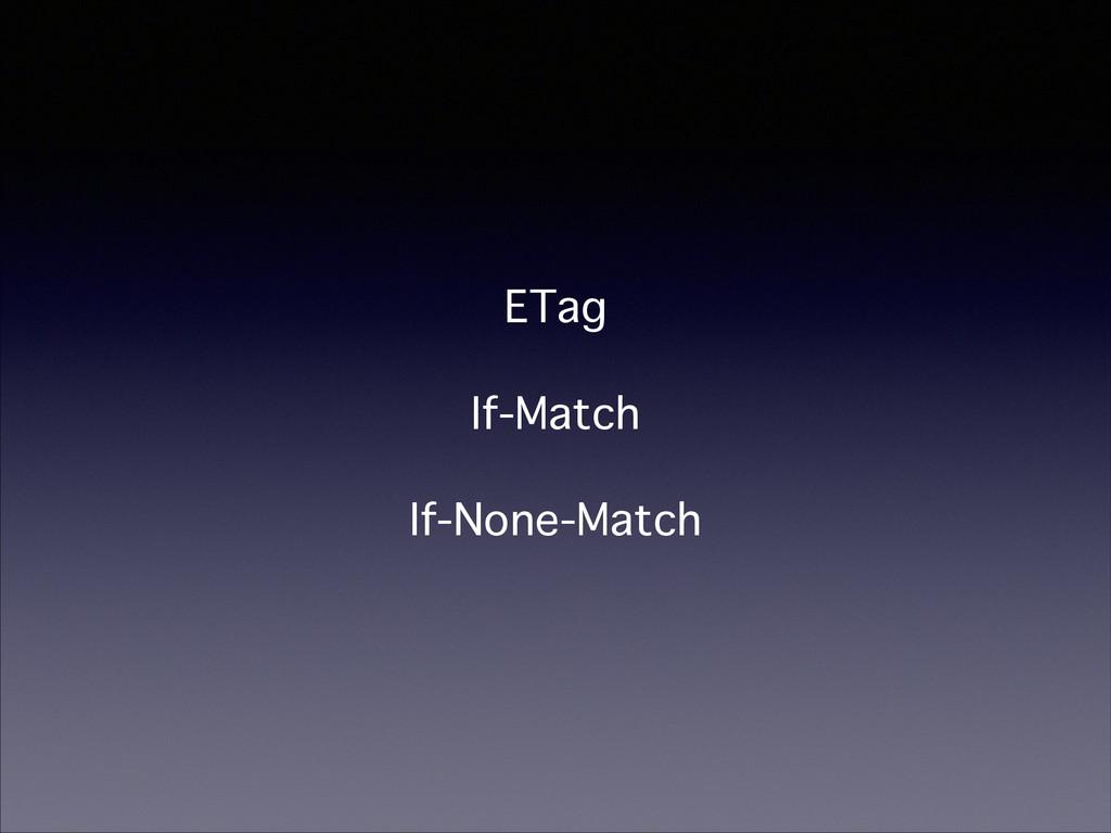 ETag If-Match If-None-Match