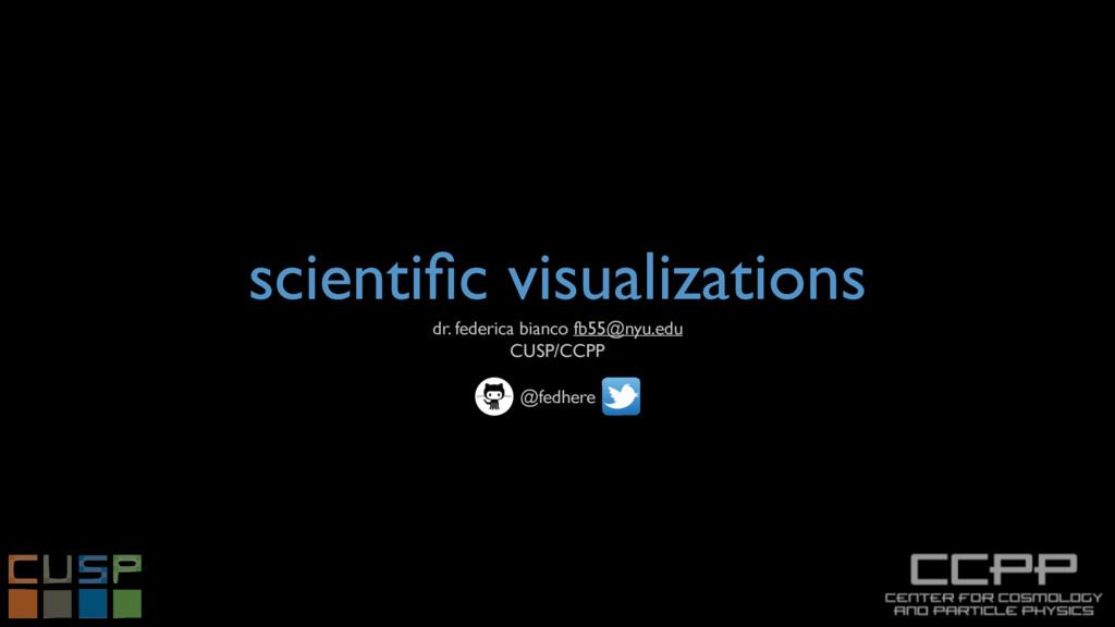 scientific visualizations dr. federica bianco fb...