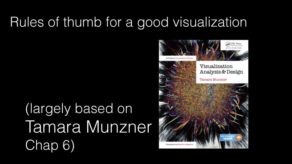 (largely based on Tamara Munzner Chap 6) Rules ...
