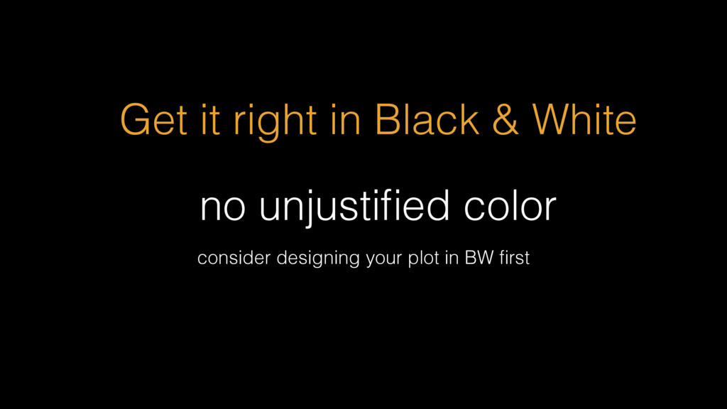 no unjustified color Get it right in Black & Whi...