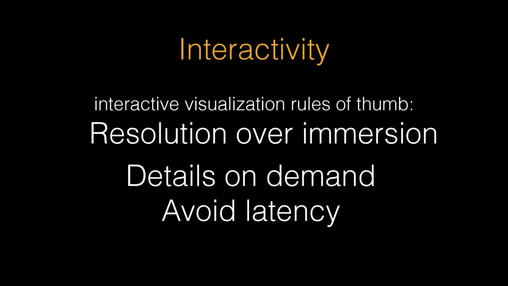 Resolution over immersion interactive visualiza...