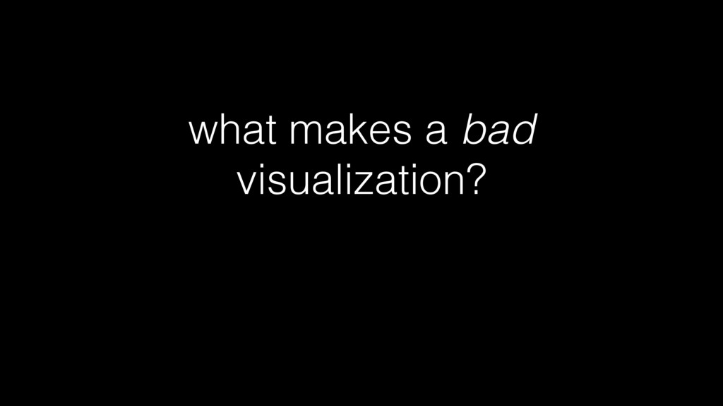 what makes a bad visualization?