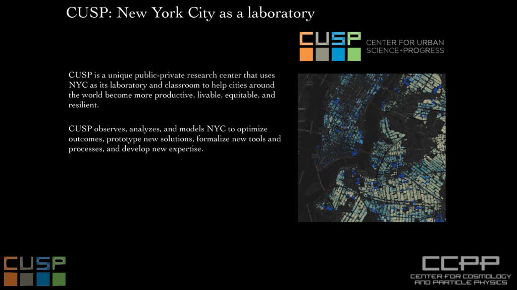 CUSP: New York City as a laboratory CUSP is a u...